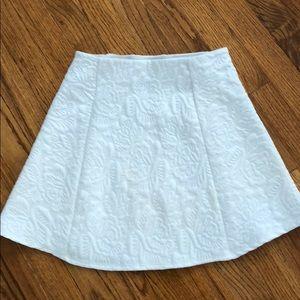 Zara white flare mini skirt